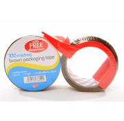 100 Metres Brown Pakaging Tape And Dispense