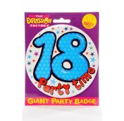 Giant Party Badge 18th - Blue