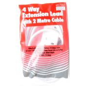 4 Way Extension Lead 2m Cable