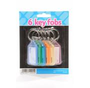 6 Key Fobs Carded