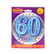 Giant Party Badge 60th - Blue