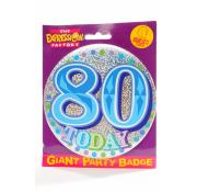 Giant Party Badge 80th - Blue