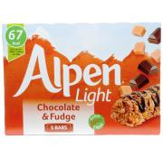 Alpen Light Chocolate and Fudge Cereal Bars