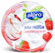 Alpro High Protein Strawberry and Raspberry