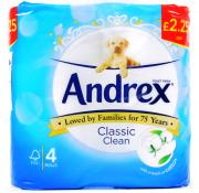 Andrex Classic Clean White Toilet Rolls