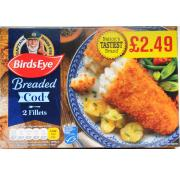 Birds Eye 2 Breaded Cod Fillets