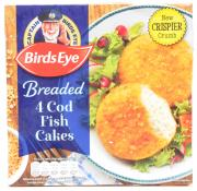 Birds Eye 4 Cod Fish Cakes In Crunch Crumb