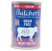 Butchers Grain Free Beef and Liver Meaty Recipe
