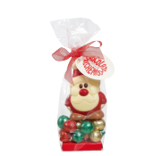 Chocolate Alchemist Mini Santa With Chocolate Balls