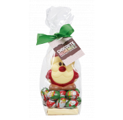 Chocolate Alchemist Belgian Chocolate Milk and White Chocolate Mini Happy Santa on Foiled Milk Chocolate Balls