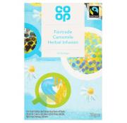 Co Op Fairtrade Camomile Herbal Infused Teabags