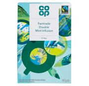 Co Op Fairtrade Double Mint Infused Teabags