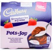 Cadbury Creme Strawberries and Cream Pots Of Joy Limited Edition