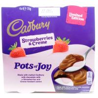 Cadbury Pots Of Joy Limited Edition Stawberries and Creme image