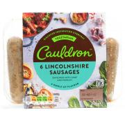 Cauldron 6 Lincolnshire Vegetarian Sausages