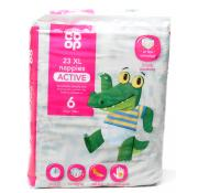Co Op 23 XL Nappies Active Size 6