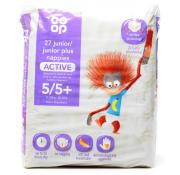 Co Op 27 Junior/Junior Plus Nappies Active Size 5/5+