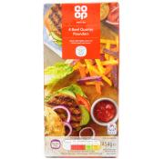 Co Op Quarter Pounder Beef Burgers