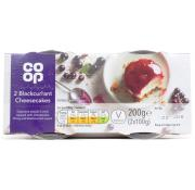 Co Op Blackcurrant Cheesecake