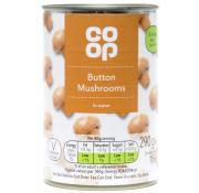 Co Op Whole Button Mushrooms in Water