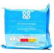 Co Op 10 Cheese Singles