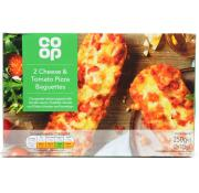 Co Op Cheese and Tomato Pizza Baguettes