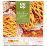 Co Op Goats Cheese and Vegetable Lattice
