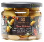 Co Op Irresistible Green Olives Stuffed with Sun Dried Tomatoes