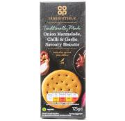 Co Op Irresistible Onion Marmalade Chilli and Garlic Savoury Biscuits