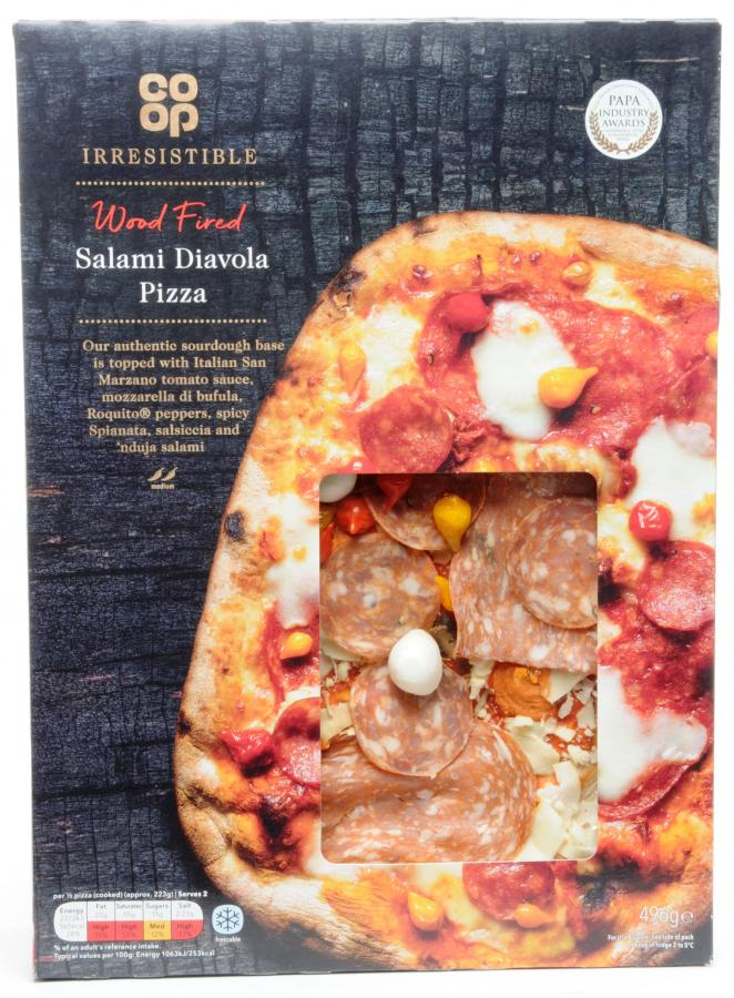 Dike Son Co Op Irresistible Salami Diavola Pizza