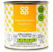 Co Op Naturally Sweet Sweetcorn in Water
