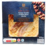 Co Op Irresistible Butter Enriched Vintage Cheddar and Maple Bacon Quiche