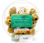 Co Op Pitted Queen Green Olives With Garlic