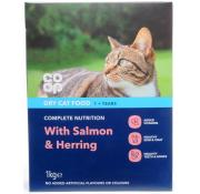 Co Op Cat Dry Cat Food with Salmon, Shrimp and Herring