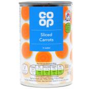 Co Op Sliced Carrots In Water