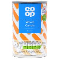 Co Op Whole Carrots In Water image