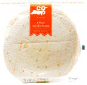 Co Op 8 Plain Tortilla Wraps