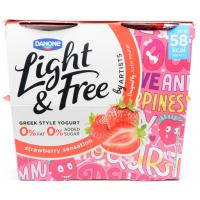 Danone Light and Free Strawberry Sensation image