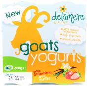Delamere Goats Yogurts Strawberry and Vanilla