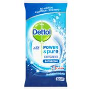 Dettol Power and Pure Bathroom Wipes