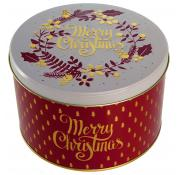 Farmhouse Biscuits Oat Flips 'Merry Christmas' Round Tin