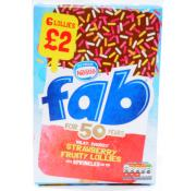 Nestle Fab Strawberry Lollies