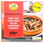Farmgate Food Tradional Beef and Vegetable Filled Yorkshire
