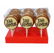 Gwynedd Decorated Chocolate Christmas Bah Humbug Lolly