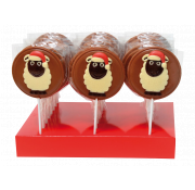 Gwynedd Decorated Chocolate Christmas Sheep Lolly