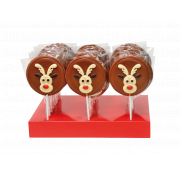 Gwynedd Decorated Chocolate Christmas Reindeer Lolly