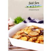 Garlic and Thyme Sliced Roast Potatoes