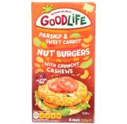 Goodlife Parsnip and Sweet Carrot Nut Burgers