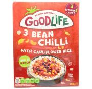 Goodlife Three Bean Chilli with Cauliflower Rice