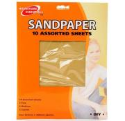 Homeware Essentials Sandpaper 10 Assorted Sheets